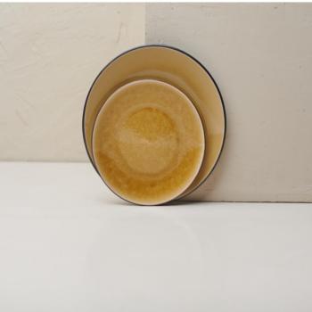 Ceramic Dinner Plate Bao Mustard