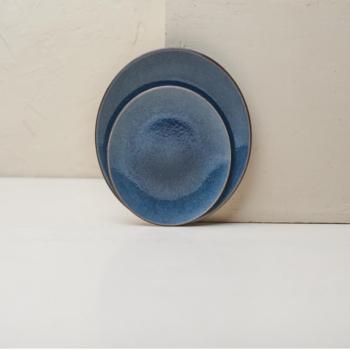 Ceramic Side Plate Bao Navy