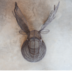 Wire Moose Head for Wall Rust Colour Eko