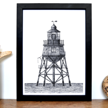 Lighthouse Print – Gunfleet