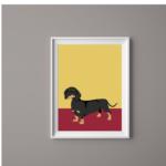 Dog Print Dachshund