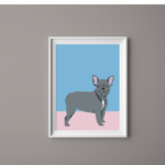 Dog Print French Bulldog