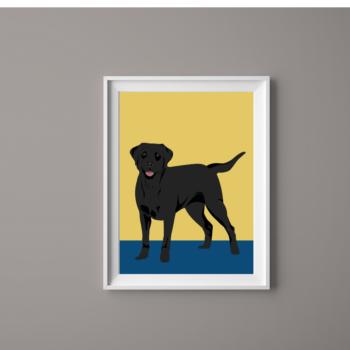 Dog Print Labrador