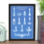 Lighthouse Print – Lighthouses of the UK