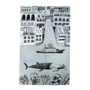 Tea Towel Big Fish Design