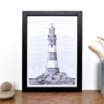 Lighthouse Print – Smeaton's Tower