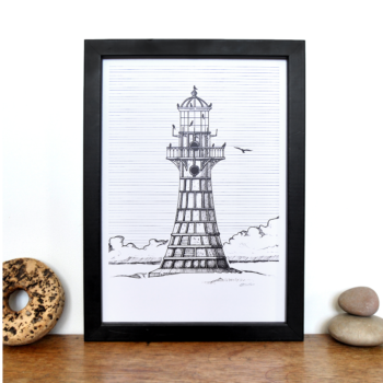Lighthouse Print – Whiteford Point