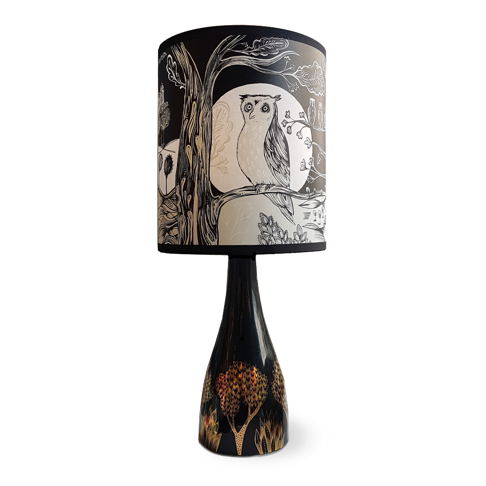 Table Lamp Linden Base & Owl Shade | The Norfolk Hare | Based in Norfolk