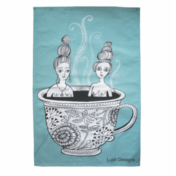 Tea Towel Tea Cup Ladies