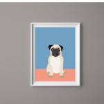 Dog Print Pug