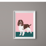 Dog Print Springer Spaniel