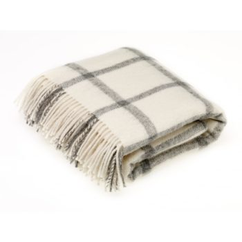 Natural Collection Wool Throw Cream – Bronte by Moon