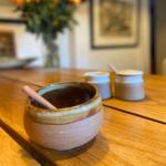 Salt Cellar Dip Bowl with Spoon