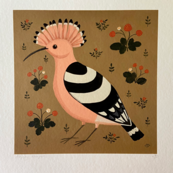 Happy Hoopoe Bird Print
