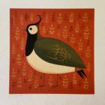 Portly Peewit Bird Print