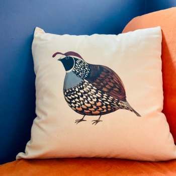 Quivering Quail Cushion