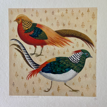 Trump & Lady Amherst Bird Print