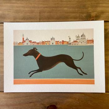 Dashing Dog Print