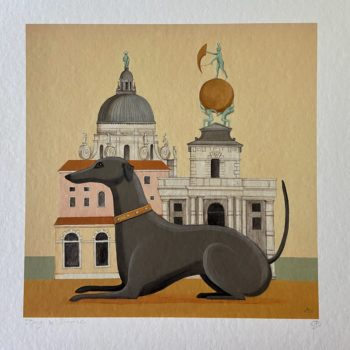 Dog and Dome Print