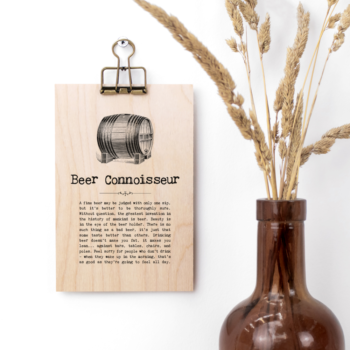 Beer Connoisseur Vintage Words Plaque