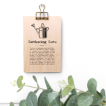 Gardening Guru Vintage Words Plaque