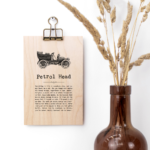 Petrol Head Vintage Words Plaque
