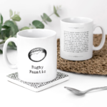 Rugby Fanatic Vintage Words Plaque