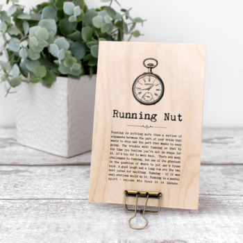 Running Nut Vintage Words Plaque
