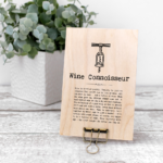 Wine Connoisseur Vintage Words Plaque