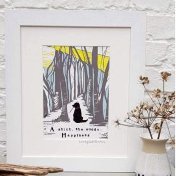 Countryside Dog Print