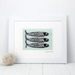 Omega Three Fish Print