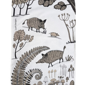 Tea Towel Wild Boar