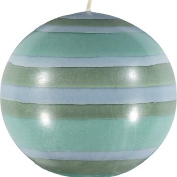 Eco Ball Candle Beryl Green, Bokhara and Moonstone Grey