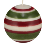 Eco Ball Candle Guardsman Red, Pearl and Olive
