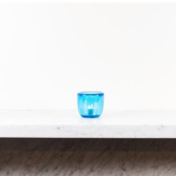 Glass Tealight in Medici Blue