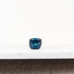 Glass Tealight in Mineral Blue