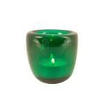 Glass Tealight in Peacock Green