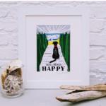 Dog + Beach = Happy Print