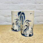 Beaker Vase Heron Design