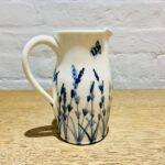 Jug with Handle Lavender and Bees Design